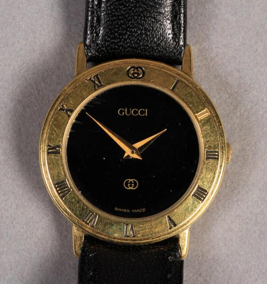2480f58b7d3 A LADY S GUCCI WRISTWATCH CIRCA 1990 in rolled gold case with quartz  movement