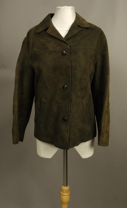 44a674235 A suede jacket with three buttons and slanted pockets by Suedecraft of  Bradford, 1970s
