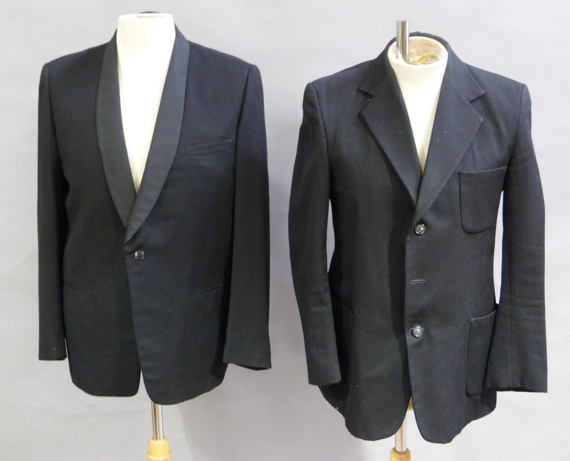 Lot 94 An Austin Reed Dinner Jacket Together With A Black Wool Jac
